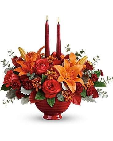 Teleflora S Autumn In Bloom Centerpiece In Santa Fe Nm