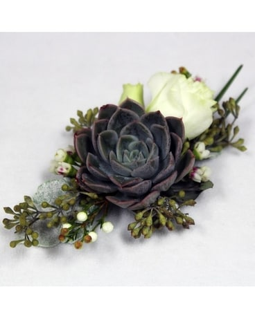Organic with a twist Corsage Flower Arrangement