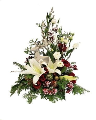 English Gardens Snow Kissed Flower Arrangement