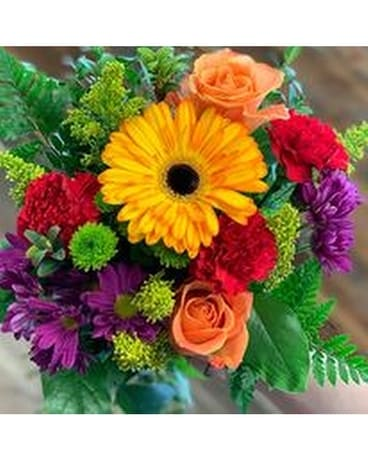 Bright Colorful Designer Choice Flower Arrangement