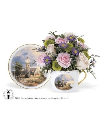 Thomas Kinkade Teacup Bouquet Flower Arrangement