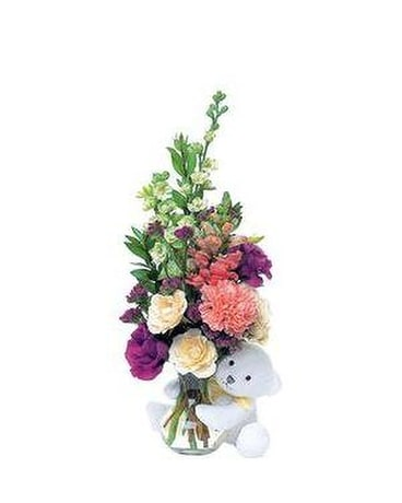 Bear hug bouquet Flower Arrangement