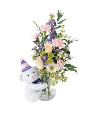 Party bear Flower Arrangement
