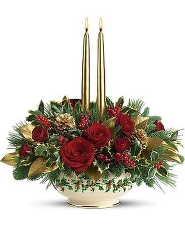 lenox teleflora holly christmas holly bowl Flower Arrangement