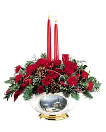 thomas kinkade sunday evening sleigh ride Flower Arrangement