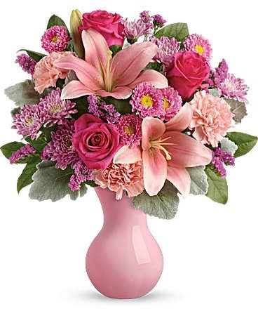 Teleflora's lush blush bouquet Flower Arrangement
