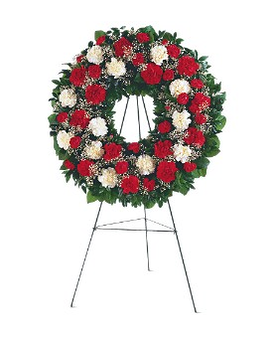 Hope and Honor Wreath Flower Arrangement