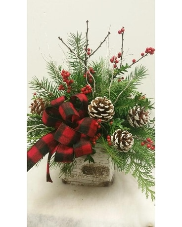 Cozy Christmas Flower Arrangement