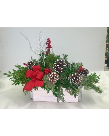 Rustic Winter Flower Arrangement