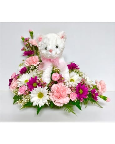 So Purr-fect Floral Arrangement Flower Arrangement