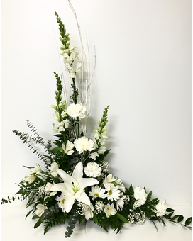 White Styled Floral Arrangement