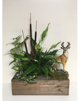 Keepsake Deer in Living Planter