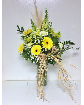 Country Casual Vase Arrangement - 9 inch vase