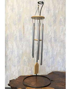 Natural Pine Wind Chimes on Stand Gifts