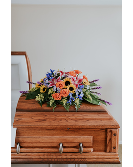 Palette Casket Spray Funeral Casket Spray Flowers