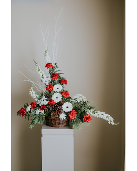 Yuletide Basket Arrangement Flower Arrangement