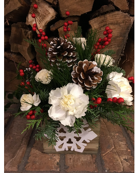 Let it Snow Flower Arrangement
