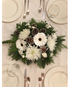 White Winter Flower Arrangement