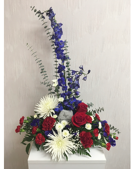 Patriotic Remembrance Flower Arrangement