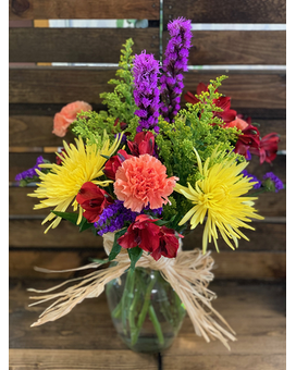 Country Color Flower Arrangement