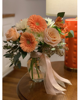 Pretty in Peach Flower Arrangement