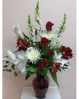 Red Requiem Flower Arrangement
