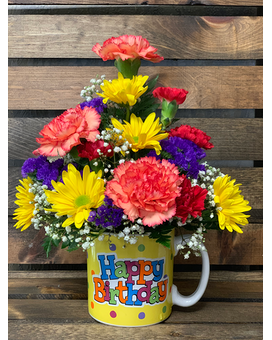 Bright Birthday Flower Arrangement