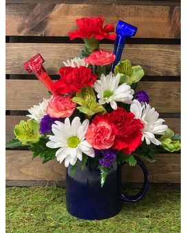 Birthday Blue Flower Arrangement