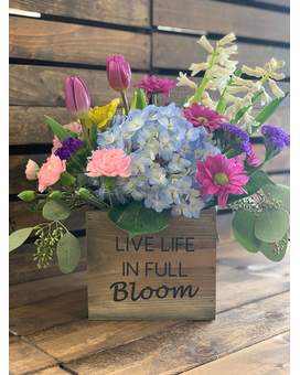 Live Life In Full Bloom Flower Arrangement