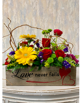 Springtime Love Never Fails Flower Arrangement