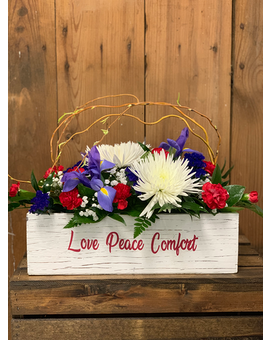 Love Peace Comfort Flower Arrangement