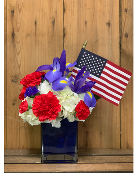 Salute to the Red, White, and Blue Flower Arrangement