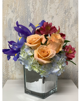 Silver Skies Flower Arrangement