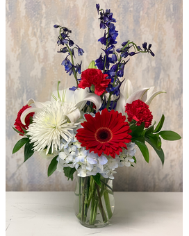 Star Spangled Flower Arrangement