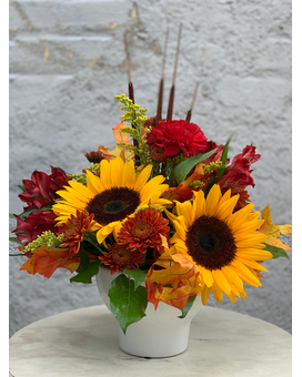 Sault Sunflower Centerpiece Flower Arrangement