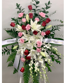 Exquisite Remembrance Easel Arrangement Funeral Arrangement