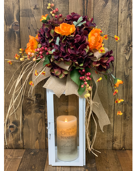 Fields of Fall Lantern Sympathy Arrangement