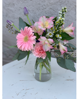 Playful Pink Flower Arrangement