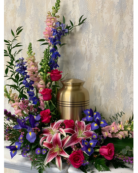 Friesland Collection Urn Arrangement - Option II Funeral Arrangement
