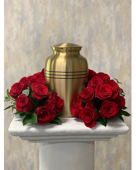 Windrose Ring of Roses Funeral Arrangement