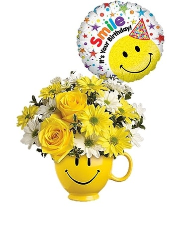 Be Happy *Balloon Bundle* Flower Arrangement