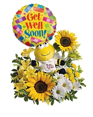 Bee Well *Balloon Bundle* Flower Arrangement