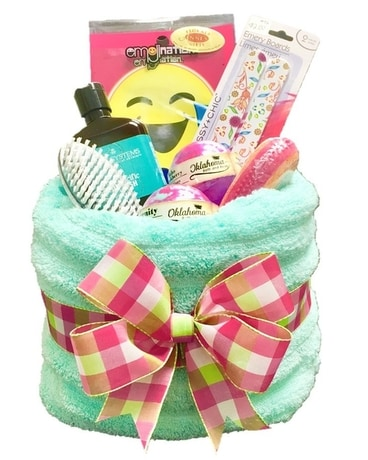 Spa Day Gift Set (Basket made out of a Towel) Gift Basket