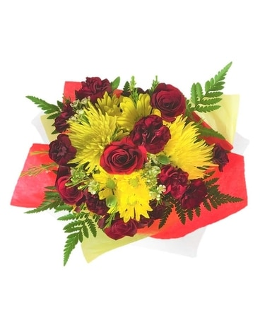 Alvirne Graduation Wrapped Flowers Bouquet