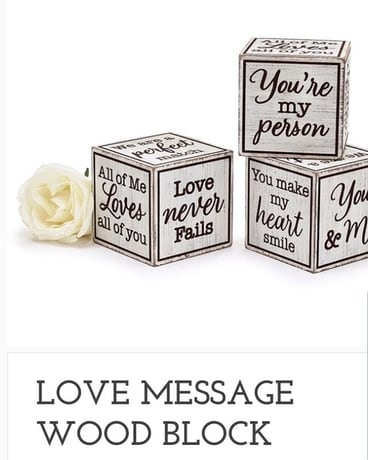 Love Message Wood Block Gifts