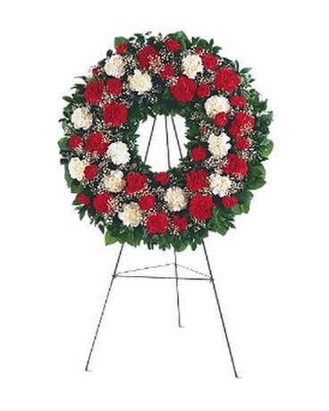 Hope and Honor Wreath Funeral Arrangement