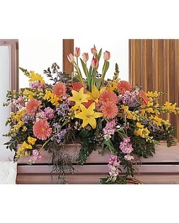 Blooming Glory Casket Spray Funeral Casket Spray Flowers