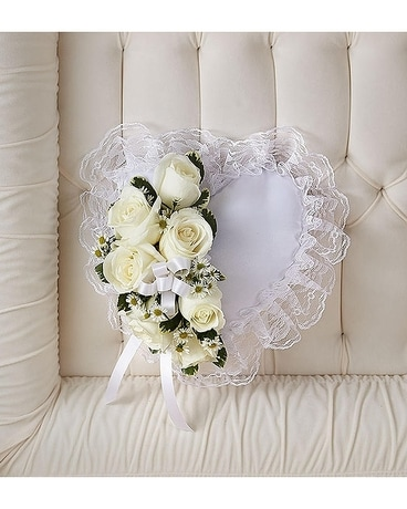 Satin Pillow Funeral Arrangement