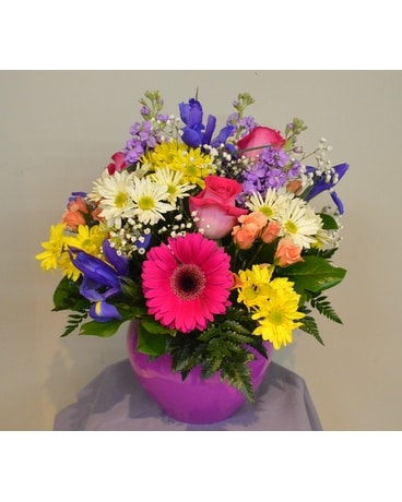 Bright Blooms Flower Arrangement