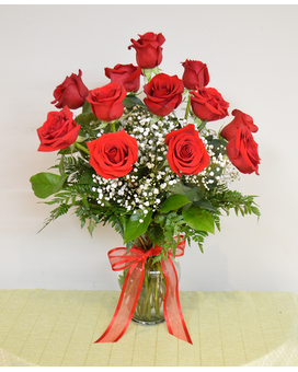 12 Roses Arranged